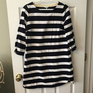 Crown & Ivy navy and white striped dress, size M